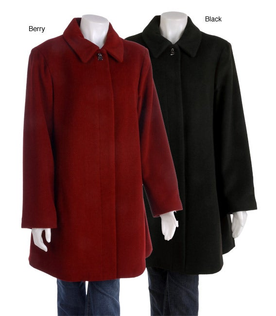 Shop Liz Claiborne Plus Size Turnkey Coat - Free Shipping Today ...