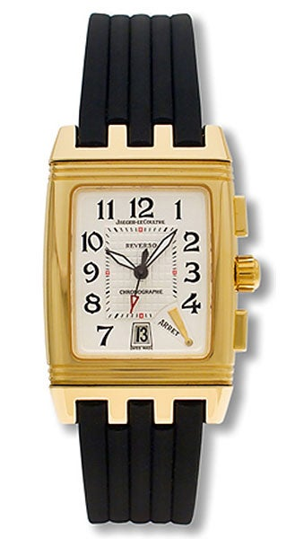 85f4f42064a4 Shop Jaeger LeCoultre Reverso Gran Sport Men s 18k Yellow Gold Watch - Free  Shipping Today - Overstock - 2931670