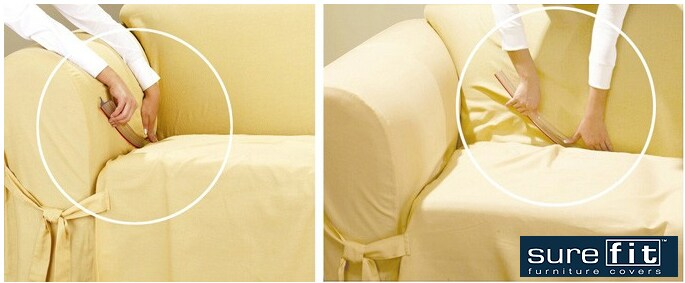 Sure Fit Tuck Once Sofa Slipcover Grip