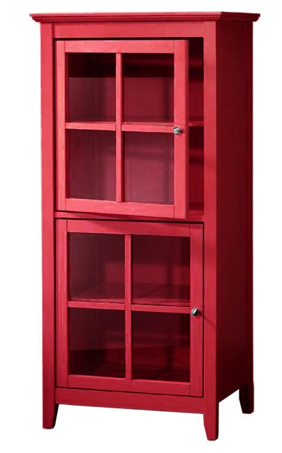 Shop Kylie Red Storage Cabinet Free Shipping Today