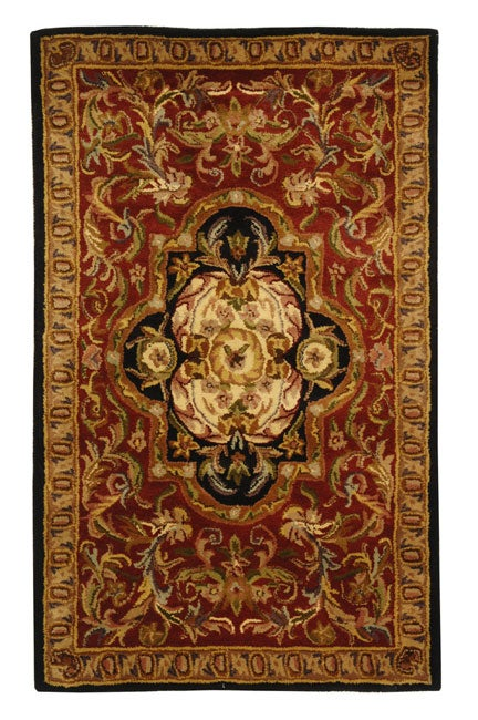 Safavieh Handmade Classic Royal Red/ Black Wool Rug - 3' x 5'