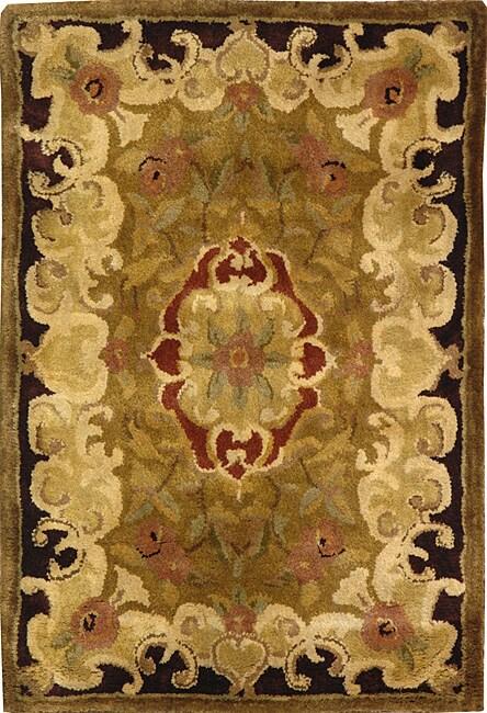 Safavieh Handmade Classic Juliette Gold Wool Rug (2' x 3')
