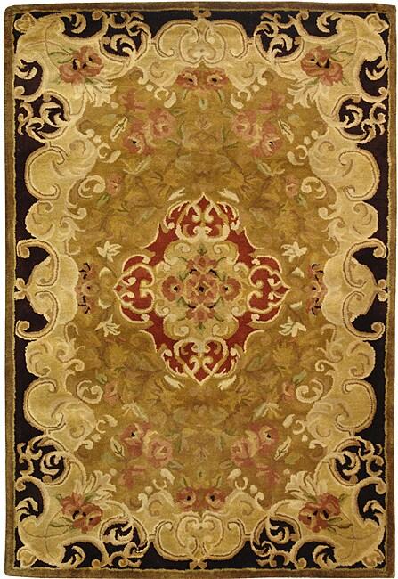 Safavieh Handmade Classic Juliette Gold Wool Rug (4' x 6')