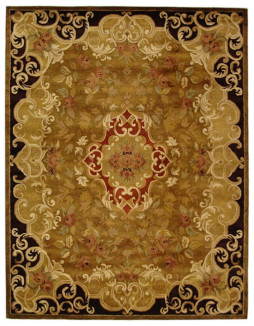 Safavieh Handmade Classic Juliette Gold Wool Rug - 9'6 x 13'6