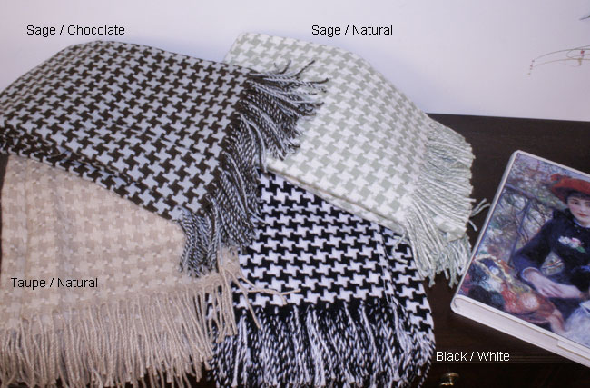 Shop Houndstooth Throw Blanket Free Shipping On Orders Over 40 Extraordinary Black And White Houndstooth Throw Blanket