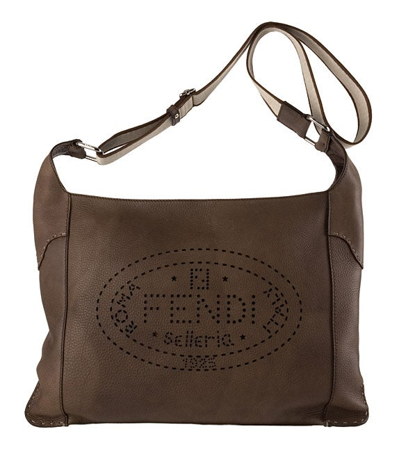5bf0d88000 Shop Fendi Brown Leather Perforated  Selleria  Messenger Bag - Free  Shipping Today - Overstock - 2948333