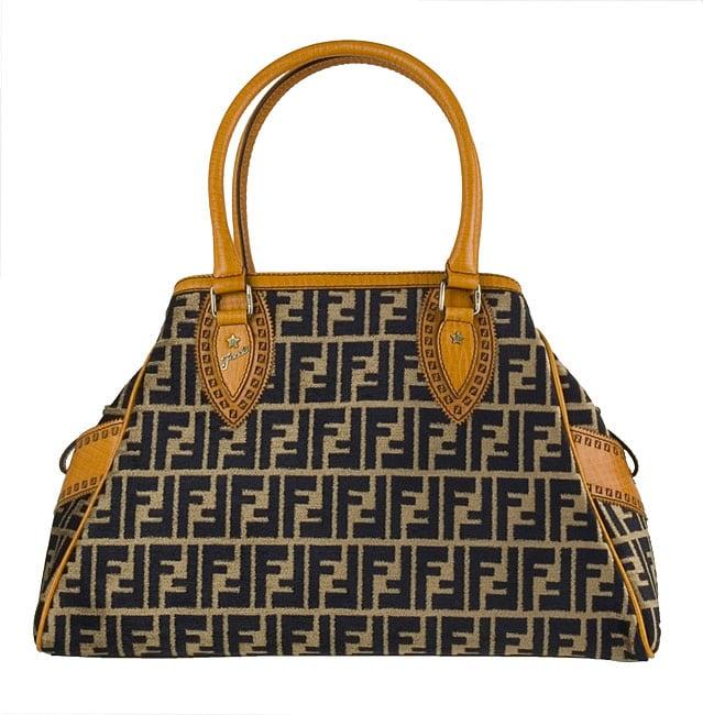 ffe83e986e60 Shop Fendi Beige  Orange Chenille Zucca Bag de Jour - Free Shipping Today -  - 2948694