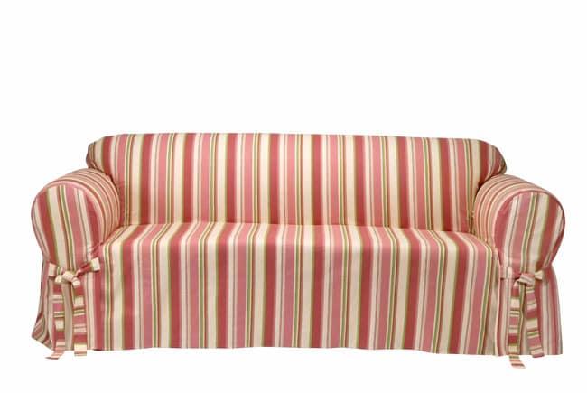 Country Stripe Sofa Slipcover