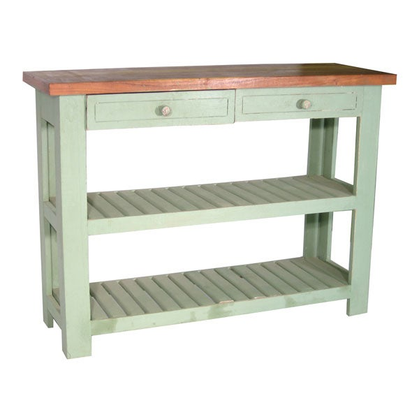 Rustic Turquoise Kitchen Console