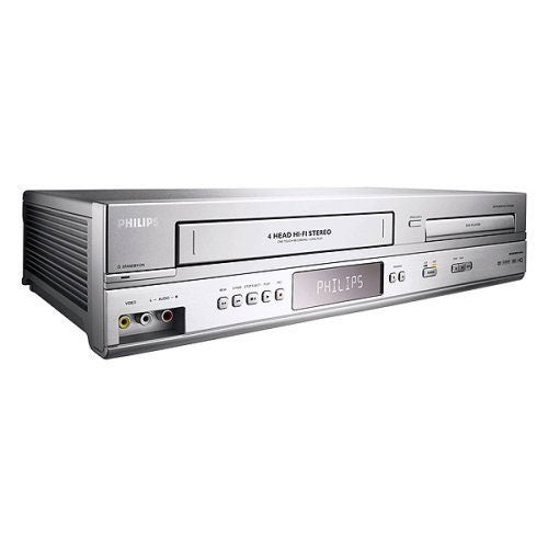 Philips Silver DVD/ VCR Combo Unit