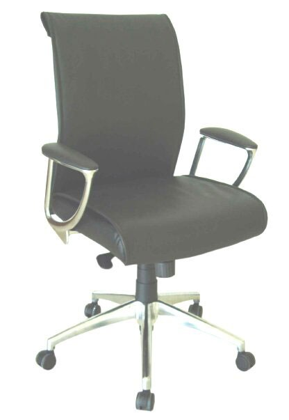 integrity sleek mid back leather office chair free