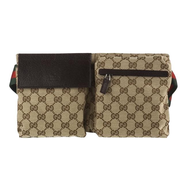 Gucci Jacquard Guccissima Logo Waist Bag Belt