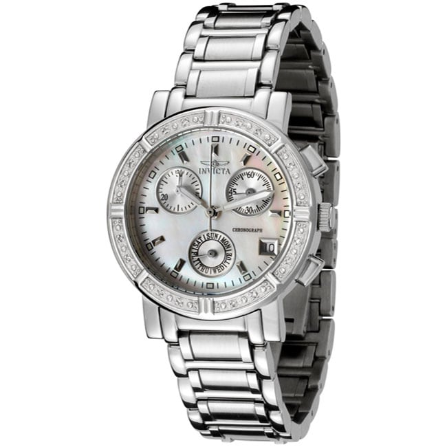 Invicta Women's 4718 Chronograph Diamond Watch, Blue, Siz...