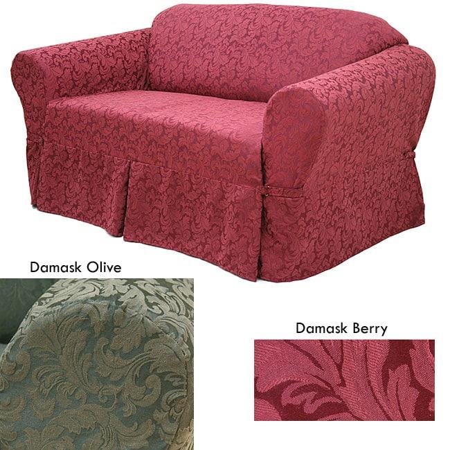 Damask Sofa Slipcover