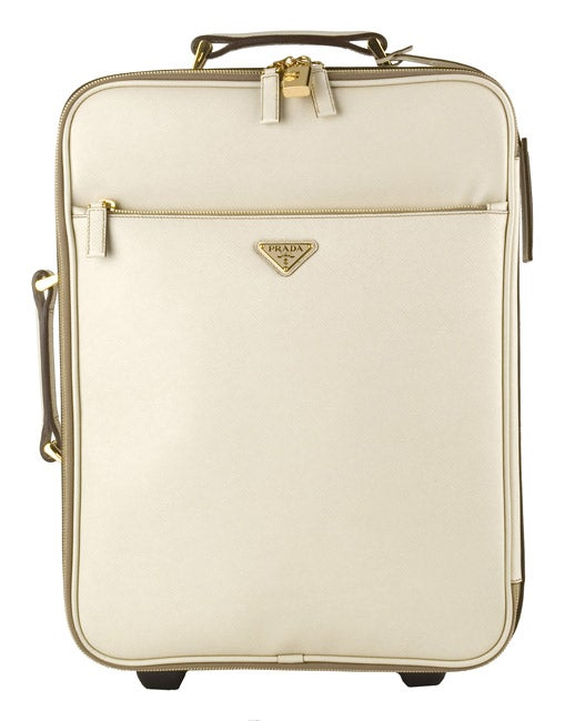 Shop Prada Medium Cera Saffiano Leather Rolling Suitcase - Free Shipping  Today - Overstock - 2982466 d2bf5a2c8feb8