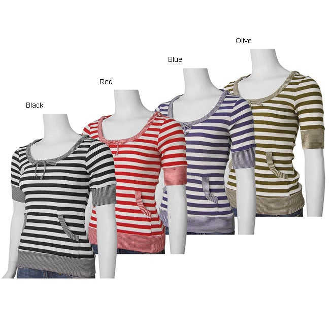 Parang Junior's Short-sleeve Striped Hoodie