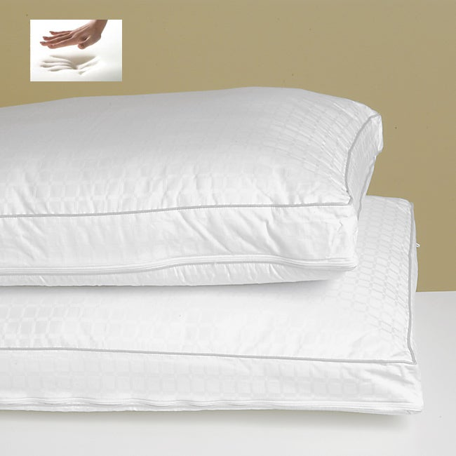 2-inch Gusseted Memory Foam Pillow Twin Pack