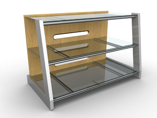 Maple and Glass 40-inch TV Stand