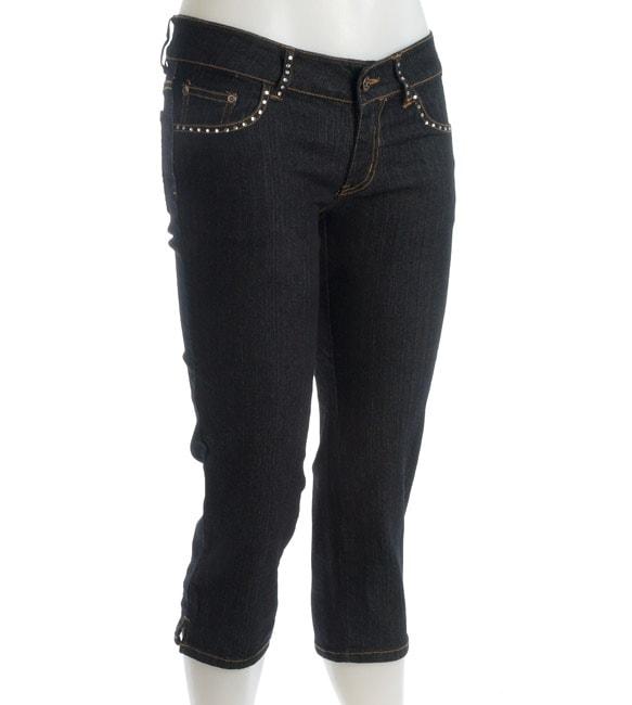 Hip Jeans Women's Denim Embellished Capri Pants