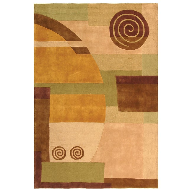 Safavieh Handmade Rodeo Drive Modern Abstract Beige Wool Rug (5' x 8')