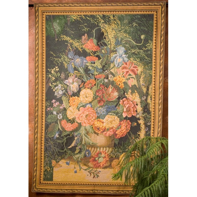 Shop \'Terracotta Floral Bouquet\' Wall Art Tapestry - Free Shipping ...
