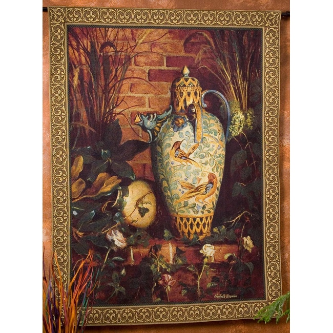 Elizabeth Brandon Chosen Clay Vase Wall Art Tapestry