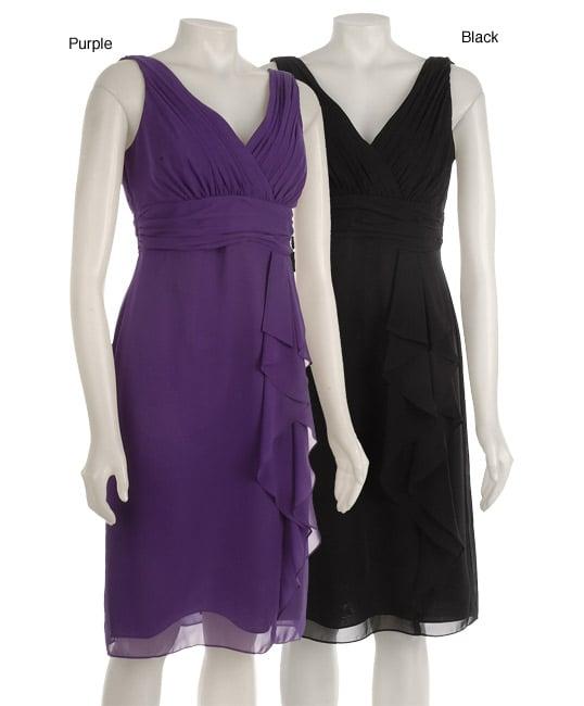 Fashions Womens Surplice Evening Dress