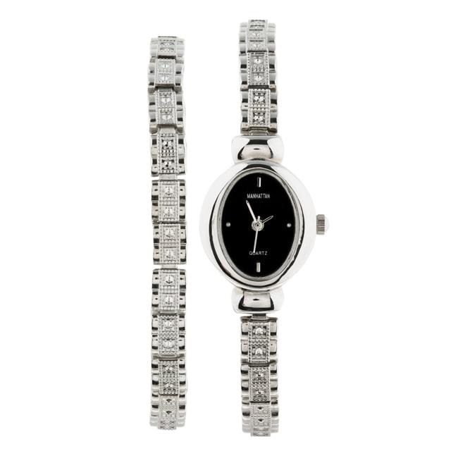 Shop Manhattan By Croton Women S Bracelet Set Watch Free Shipping
