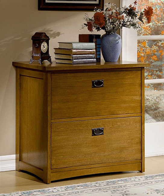 Mission Solid Oak 2 Drawer Lateral File Cabinet