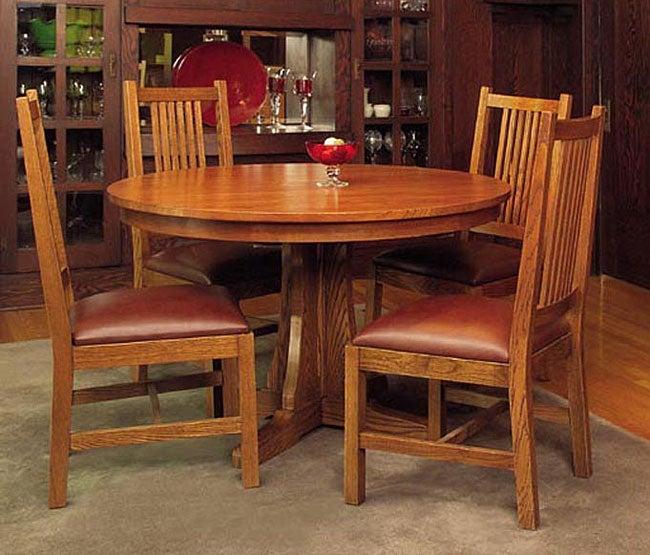 Mission Cherry Oak 5-piece Dining Set
