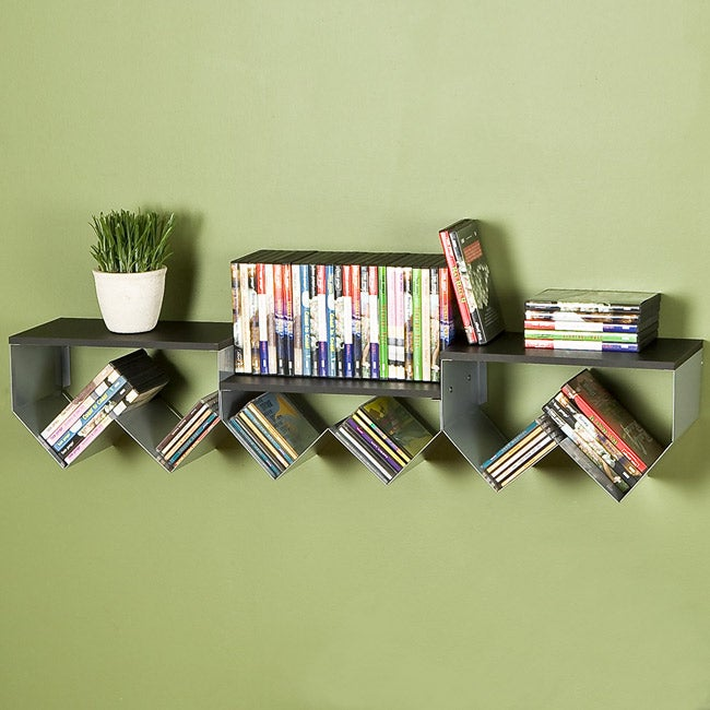 Stair Storage Shelf : Stair Step Media Storage Shelf - Free Shipping Today - Overstock.com ...
