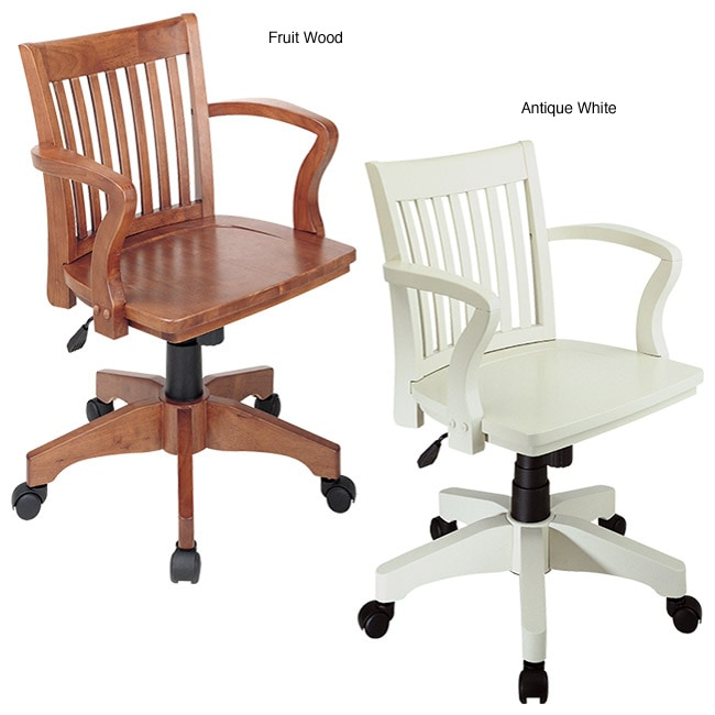 office star deluxe wood bankers chair free shipping today