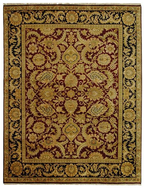 Safavieh Hand-knotted Burgundy/ Black Treasures Wool Rug - 8' x 10'
