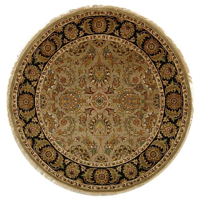 Shop Safavieh Hand-knotted Camel/ Black Eternity Wool Rug