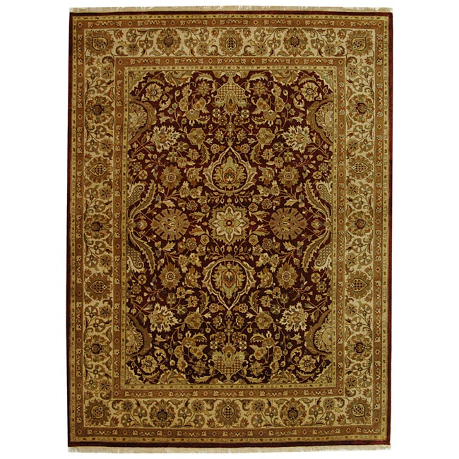 Safavieh Hand-knotted Rust/ Ivory Timeless Wool Rug - 8' x 10'