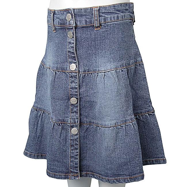 bongo junior s button front denim skirt free shipping on