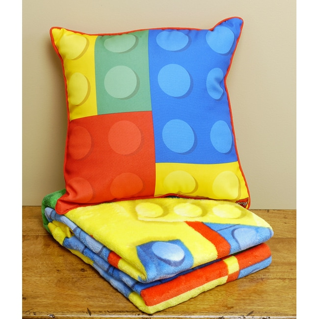 Toy Block Throw Pillow And Blanket Set Free Shipping On