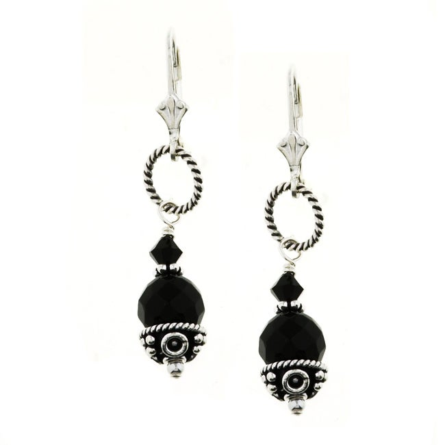 4b5d6028f Shop Lola's Jewelry Sterling Silver Black Onyx Drop Earrings - Free  Shipping On Orders Over $45 - Overstock - 3038089