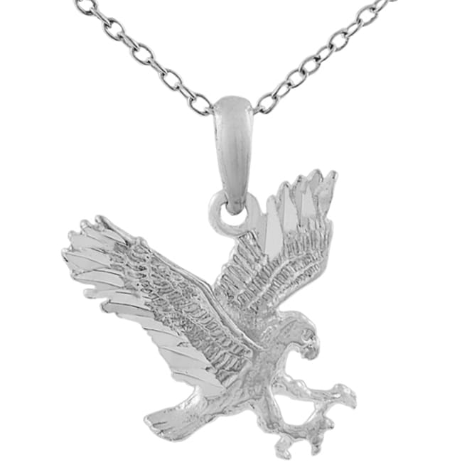 Journee Sterling Silver American Eagle Necklace