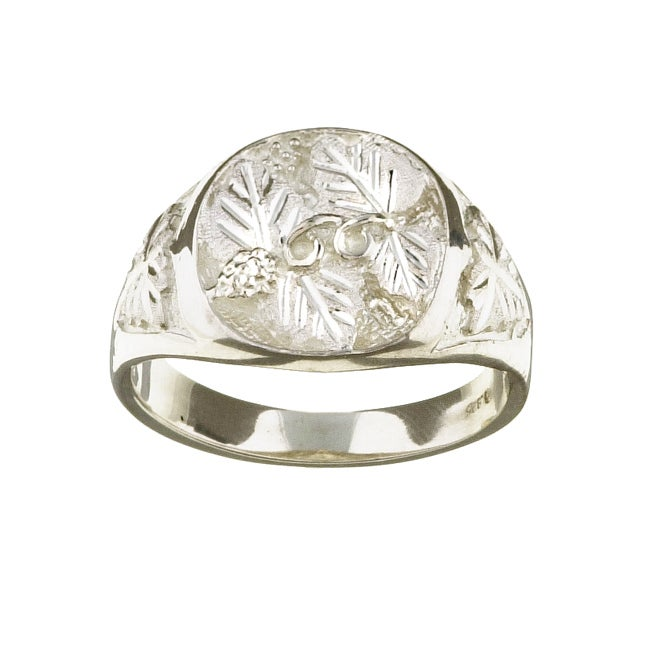 Black Hills Silver Men's Leaf Design Ring