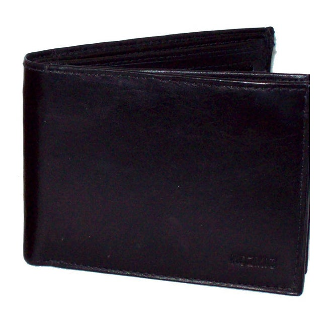 Kozmic Black Leather Bi-fold Wallet