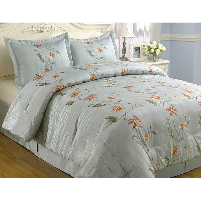 Fleurette 4-piece Handcrafted Comforter Set