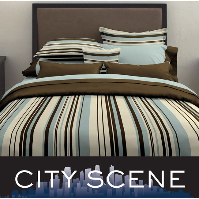 City Scene Plaza 7-piece Bed in a Bag with Sheet Set