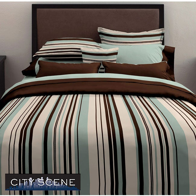 City Scene Plaza Duvet Cover Set