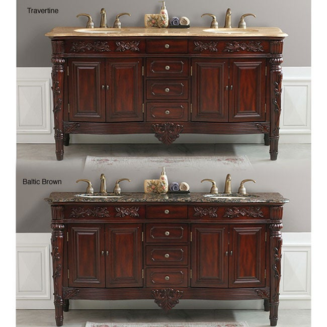 Shop Othella 67 Inch Double Sink Bathroom Vanity Free Shipping Today Overstock 3057769