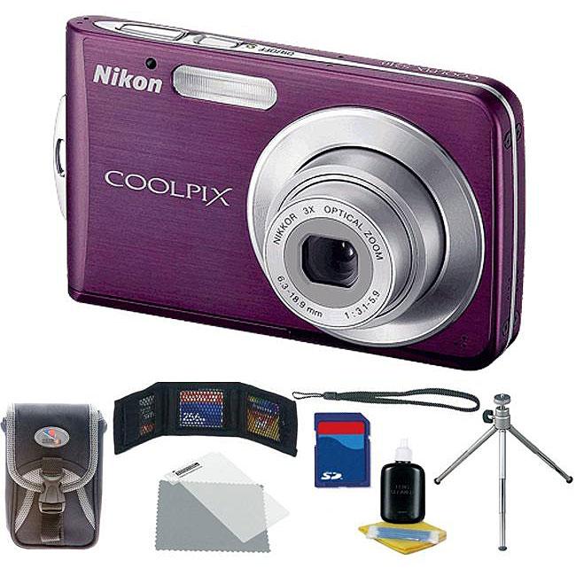 Nikon Coolpix S210 8 Megapixel Compact Camera - Plum