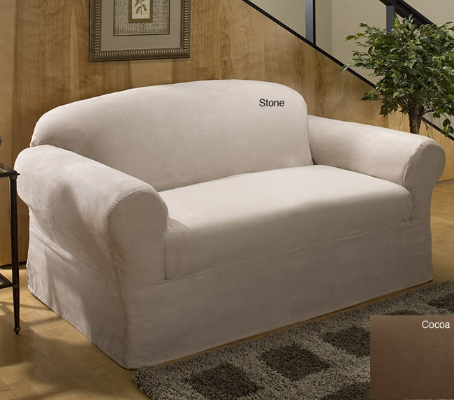 Microfiber Suede Sofa Slipcover