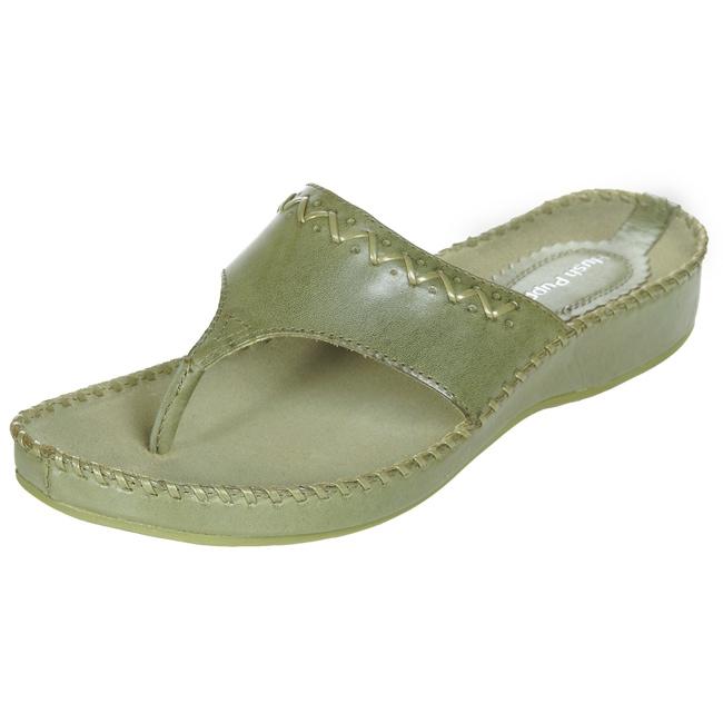 23f78fc963 Shop Hush Puppies Suncatcher Women's Green Sandals - Free Shipping Today -  Overstock - 3062555