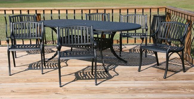 Bar Back 7-piece Black Table Dining Set