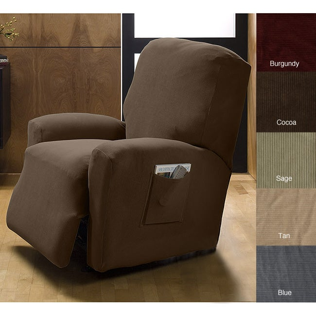 Corduroy Stretch Recliner Slipcover